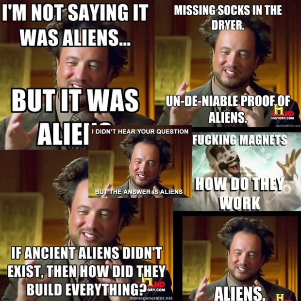 Ancient Aliens collage